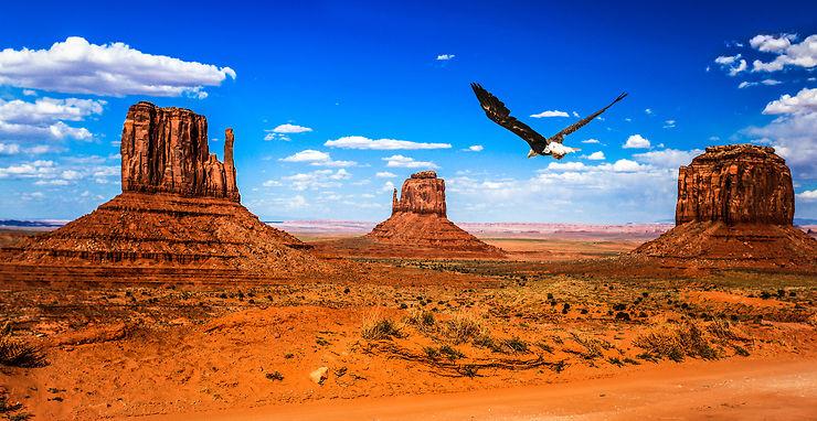 La Monument Valley en Arizona  et dans l'Utah : La Chevauchée fantastique