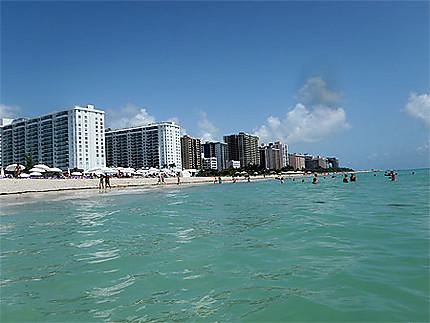 Miami beach depuis l'océan
