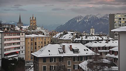 Lausanne au crépuscule