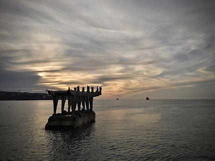 Coucher de soleil sur Valparaíso