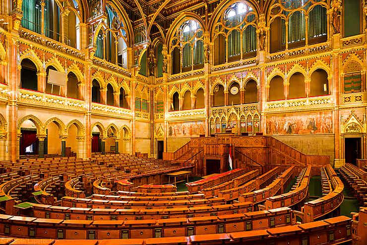 Salle de l'Assemblée nationale de Hongrie