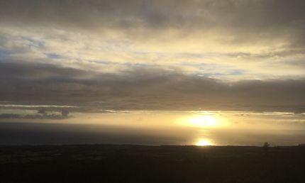 Coucher de soleil dans l'Est de La Réunion