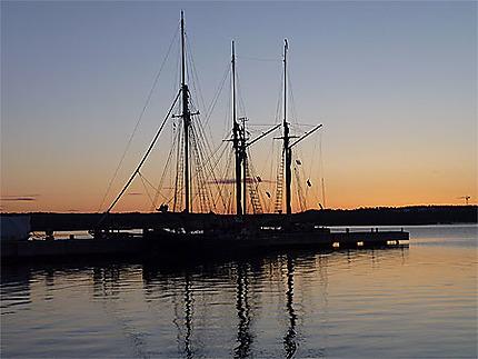 Premiers rayons du soleil sur Mariehamn
