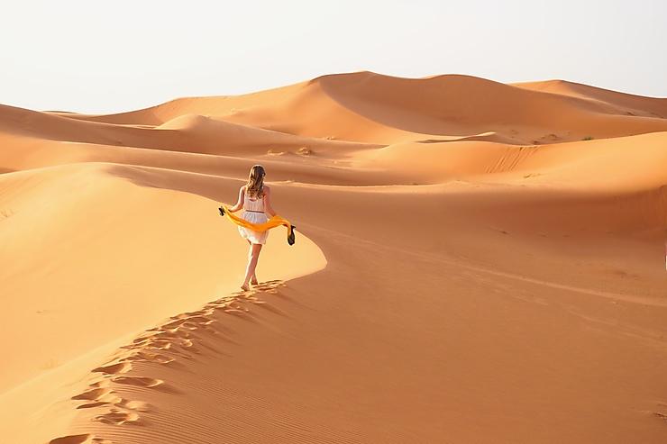 Une matinée dans le Sahara, Maroc