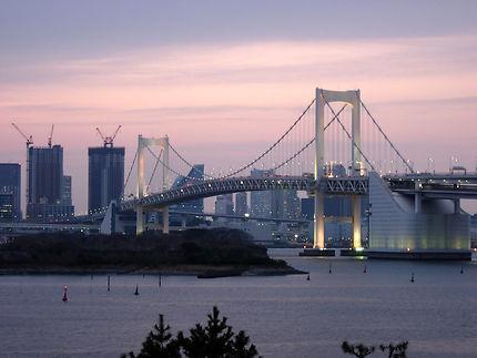 Sunset on the Rainbow bridge Tokyo