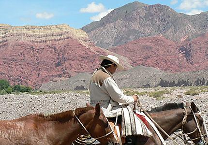 Gaucho sur la route de Humahuaca