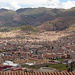 Ville de Cuzco vue de très haut