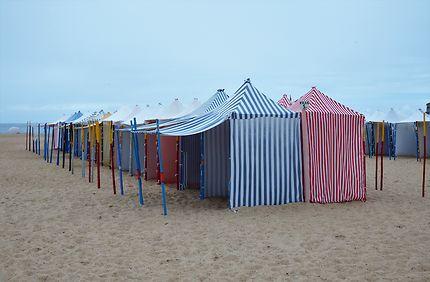 Cabanes plage de Nazaré