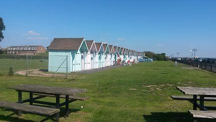 Les cabines de plage à Southsea