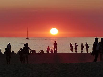 Très beau coucher de soleil à Venice Beach