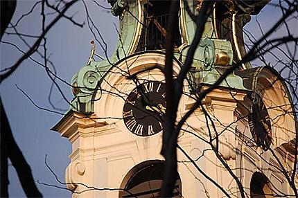 Clocher en bulbe (église sur la Mariahilfer Strasse)