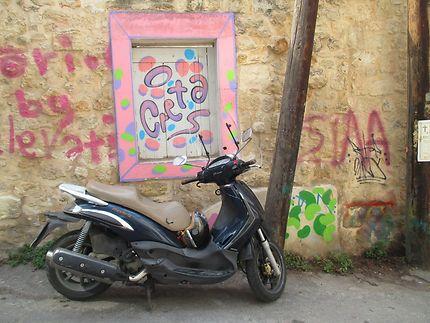 Street art et tag dans les rues d'Héraklion