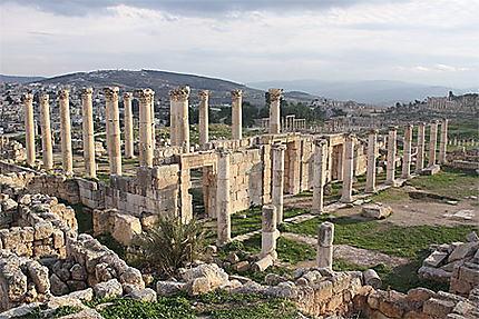 Jerash - Vue d'ensemble sur le site