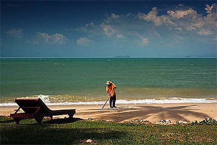 Le balayeur de plage