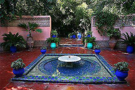 Marrakech, entrée du jardin Majorelle