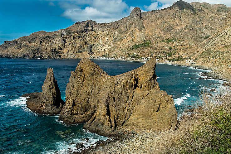 Le rocher de Fajã de Agua (Île de Brava)