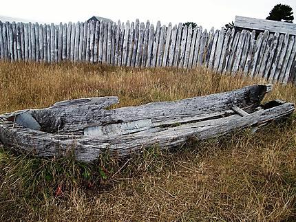 Barque abandonnée à Fuerte Bulnes