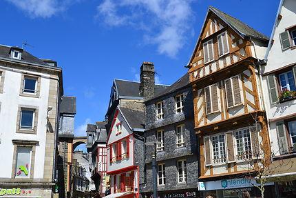 Les maisons et les rues typiques de Morlaix