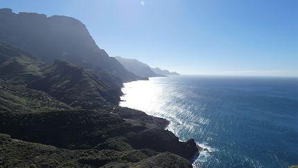 Falaises proches d'Agaete, au nord ouest de l'ile