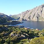 Vue depuis les collines de Nusfjord