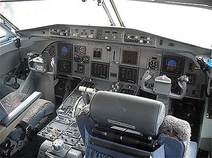 Avion-musée : cockpit