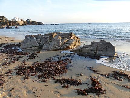 Plage de janvier dans le Finistère