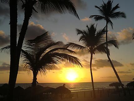Plage Bavaro lever du soleil