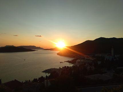 Coucher de soleil à Neum
