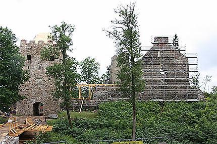 Restauration du château de Sigulda