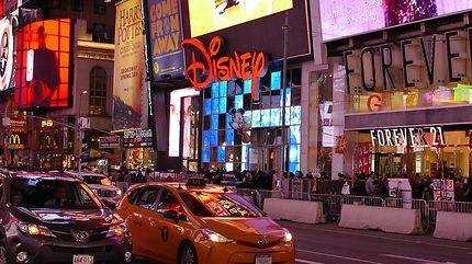 Dans les rues de Times Square