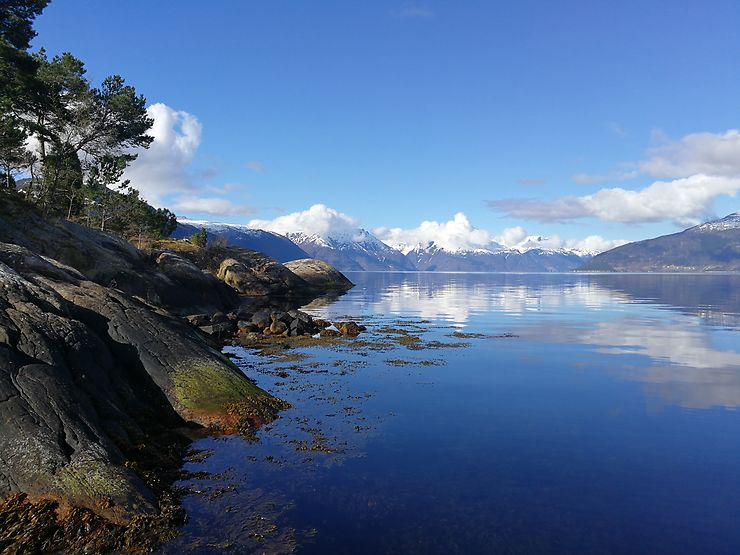 Le Sognefjord au petit matin, Norvège