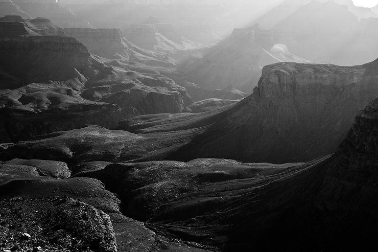 Grand Canyon en noir et blanc, Arizona
