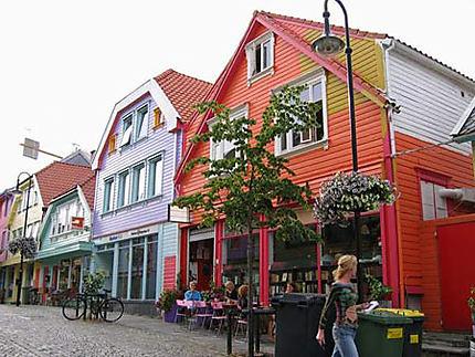 Maisons colorées dans la vieille ville