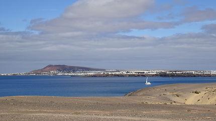 Vue sur playa blanca