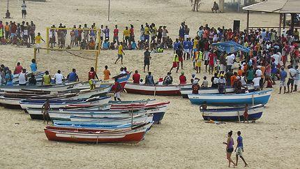 Tournoi de foot inter-îles sur la plage de Maio