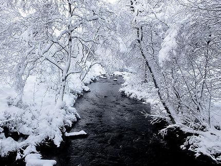 La Helle en hiver