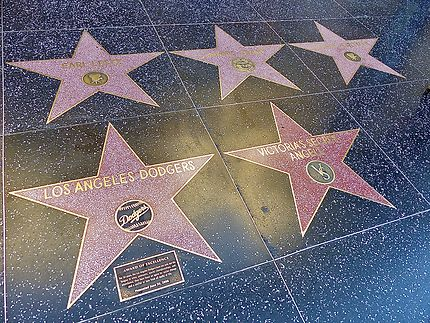 Les étoiles des vedettes sur Hollywood Bld