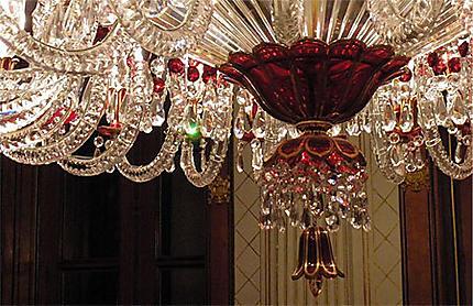 Détail candélabre Palais de Dolmabahçe à Istanbul