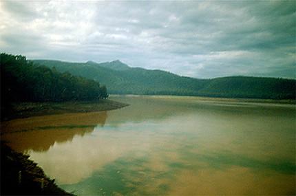 Lac de boue dans la province de Tabasco