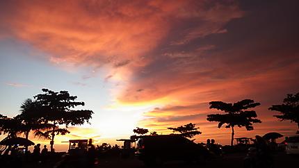 Coucher de soleil sur Padang