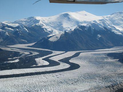Flying over the Wrangle Range