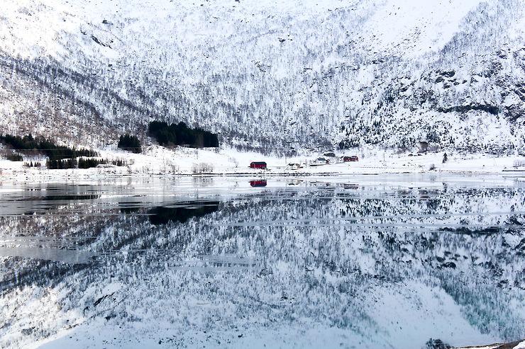 Miroir arctique, Îles Lofoten, Norvège