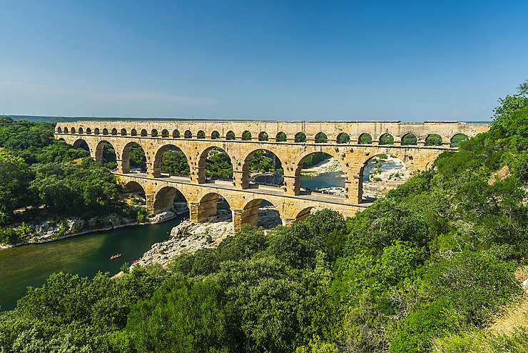 Occitanie - Le Pont du Gard sur la Route Antique de l'UNESCO