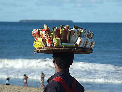 Un vendeur à la sauvette