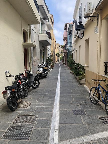 Petite rue dans la vieille de Réthymnon, Crète
