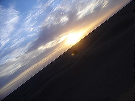 Coucher de soleil au sahara