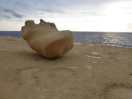 Paysage lunaire maltais