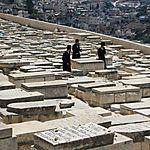 Juifs orthodoxes, cimetière du Mont des oliviers