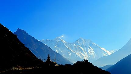 Premier aperçu de l'Everest après Namche Bazar