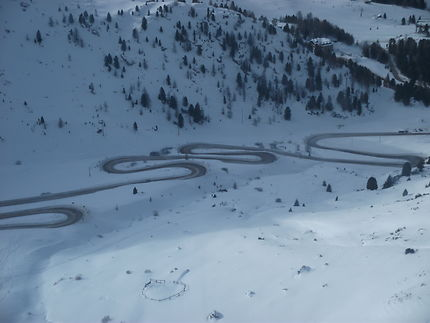 Route dans les Dolomites